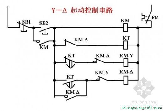 星三角启动电路控制原理图分析